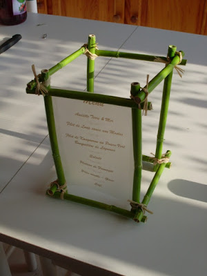 Manualidad con Cañas de Bambú