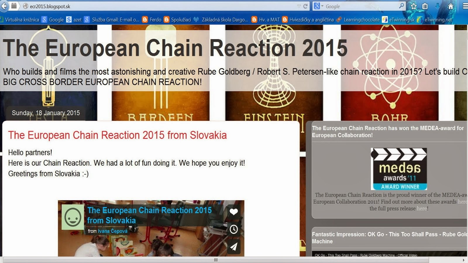 Projekt European Chain Reaction 2015