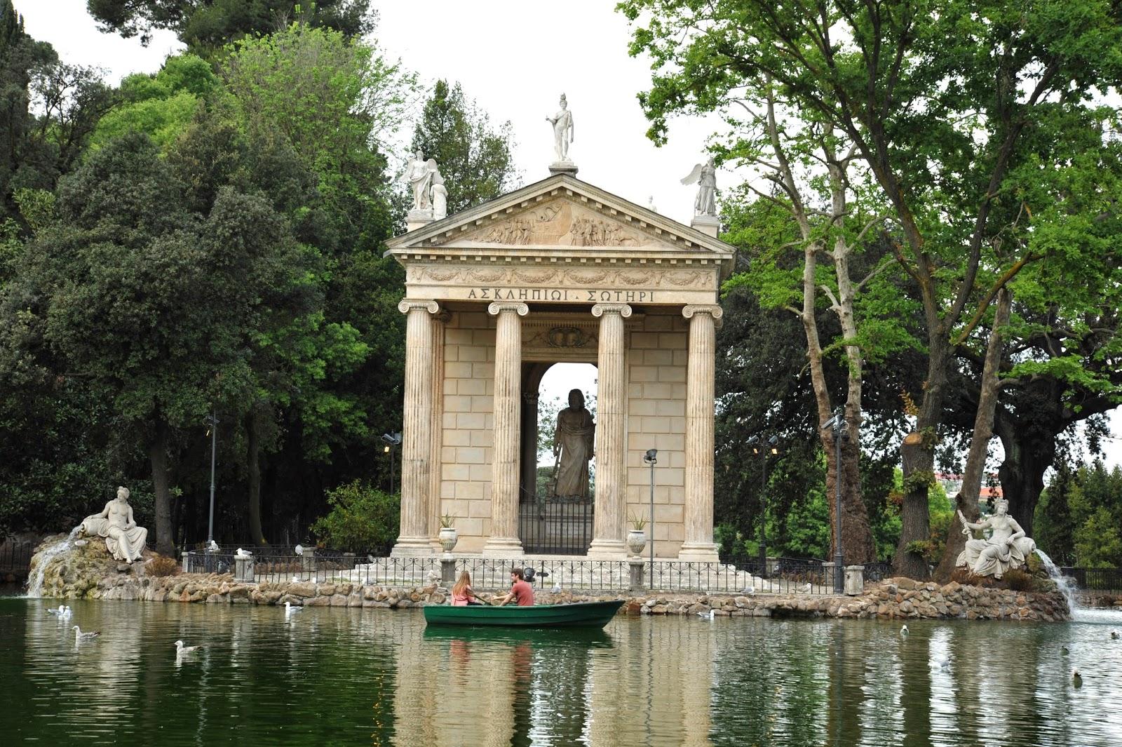 Giardino Del Lago Villa Borghese Roma Barca A Remi