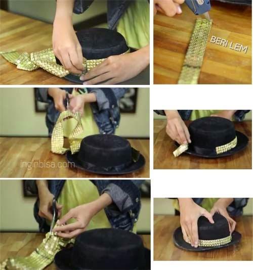 Cara Membuat Lampu Hias Dari Topi