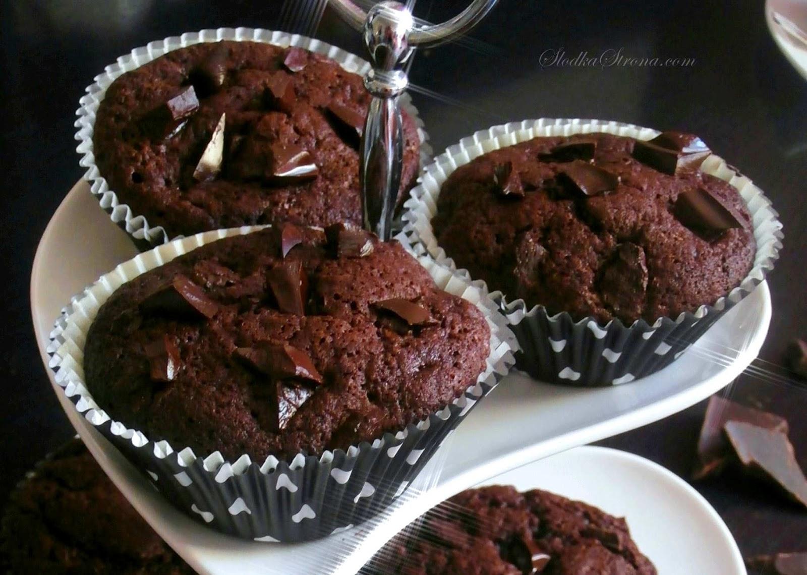Muffinki Czekoladowe - Najlepsze - Przepis