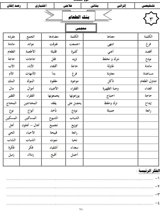 شيتات المجموعة المدرسية لمادة اللغة العربية للصف الثالث الابتدائى على هيئة صور للمشاهدة والتحميل The%2Bsecond%2Bunit%2B3%2Bprime_010