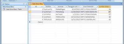 Membuat database dalam Ms access