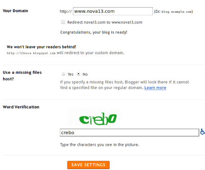 Cara Setting Custom Domain blogspot
