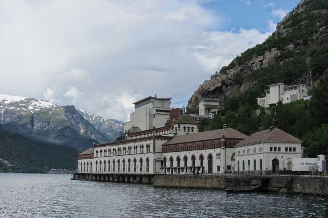 Noorwegen Tyssedal elektriciteitsfabriek