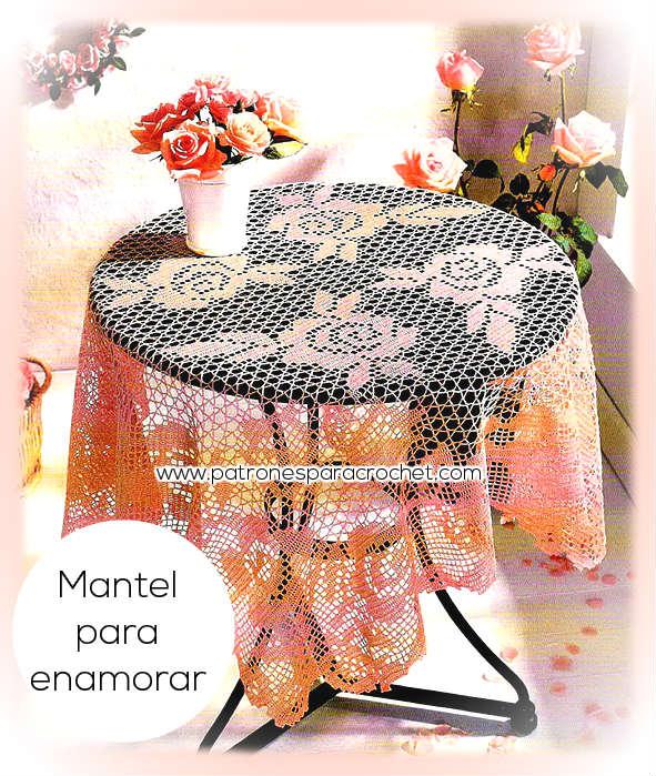 patrones crochet de mantel crochet filet para mesa redonda