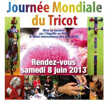 Faire et fil journ e mondiale du tricot 2013 for Salon du fil et de l aiguille