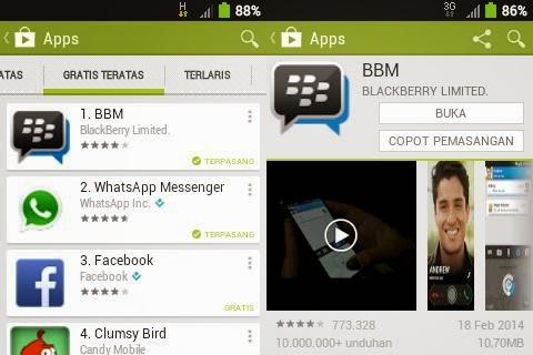 BBM Untuk Android Gingerbread di Play Store