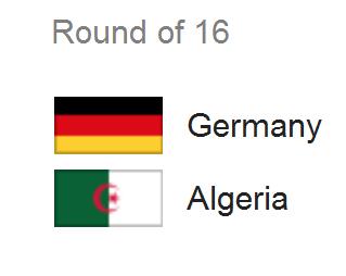 Jadwal Pertandingan Jerman vs Aljazair - 16 Besar Piala Dunia 2014