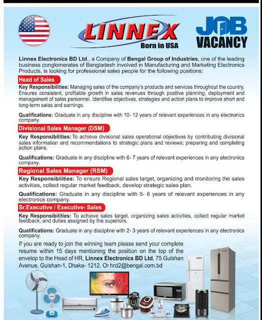 Organization: Linnex Electronics Ltd || Post: Head of Sales and More