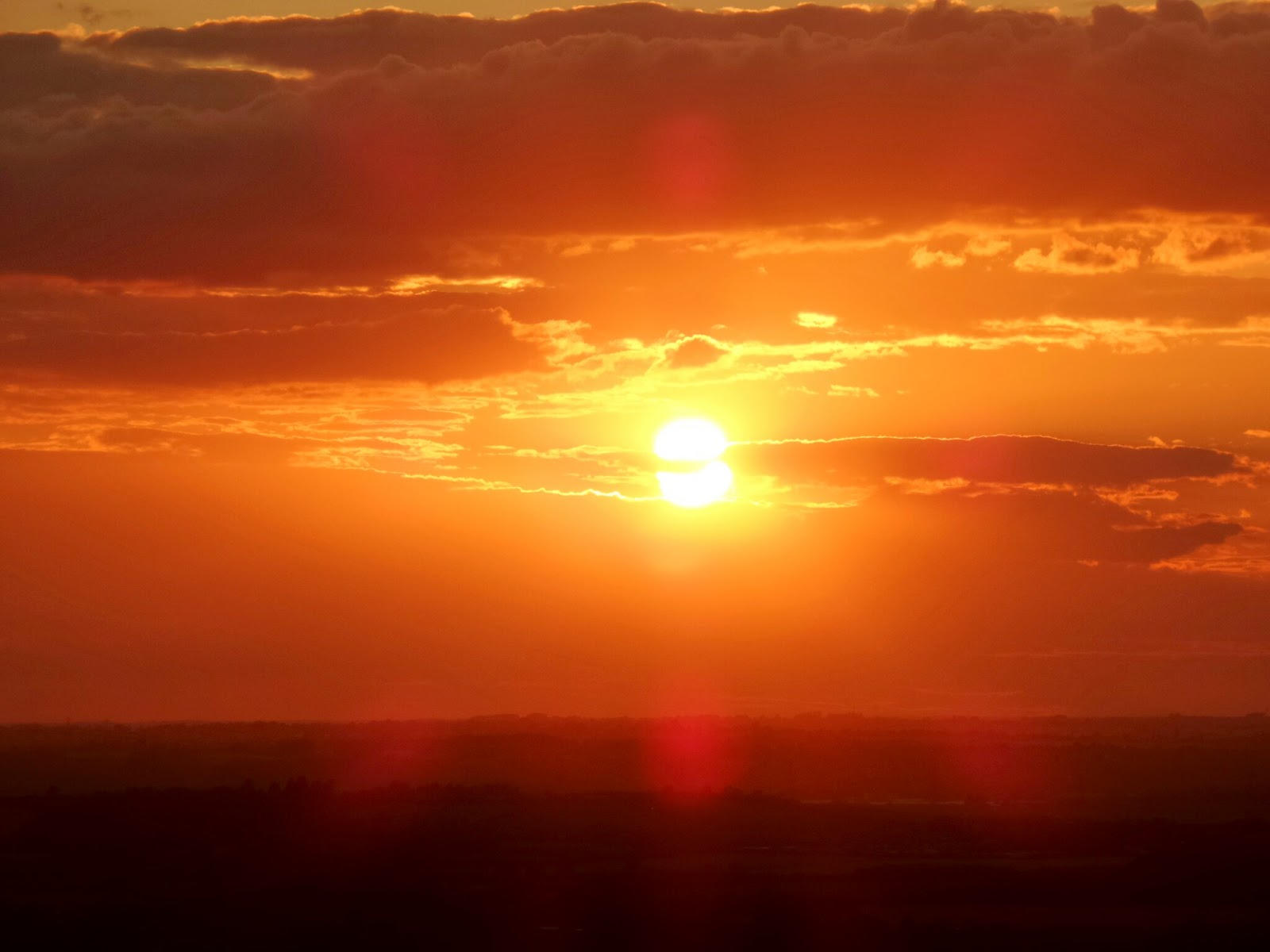 Sunset from Dunstable Downs in Summer