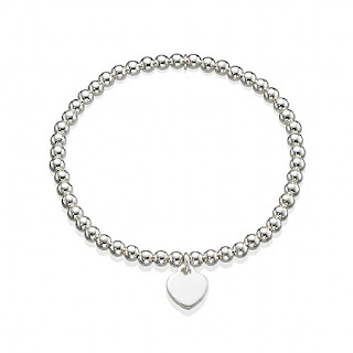 Pia Jewellery Silver Heart Stretch Bracelet