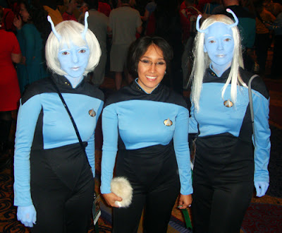 Dragon*Con Participants in Star Trek Costumes