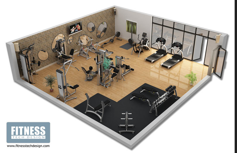 3d modelling gym layout ideas for Gym designs and layout