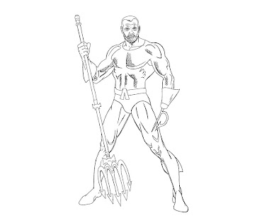 #4 Aquaman Coloring Page