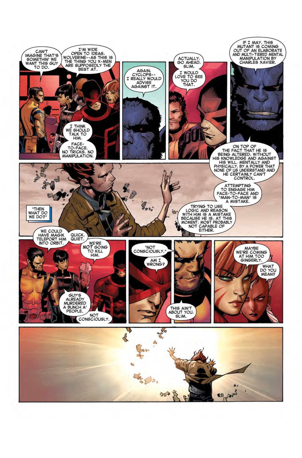 The X-Men are powerless to stop Matthew Malloy