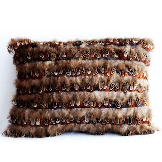Cojines y Lamparas con Plumas Reutilizadas, Decoracion Reciclada