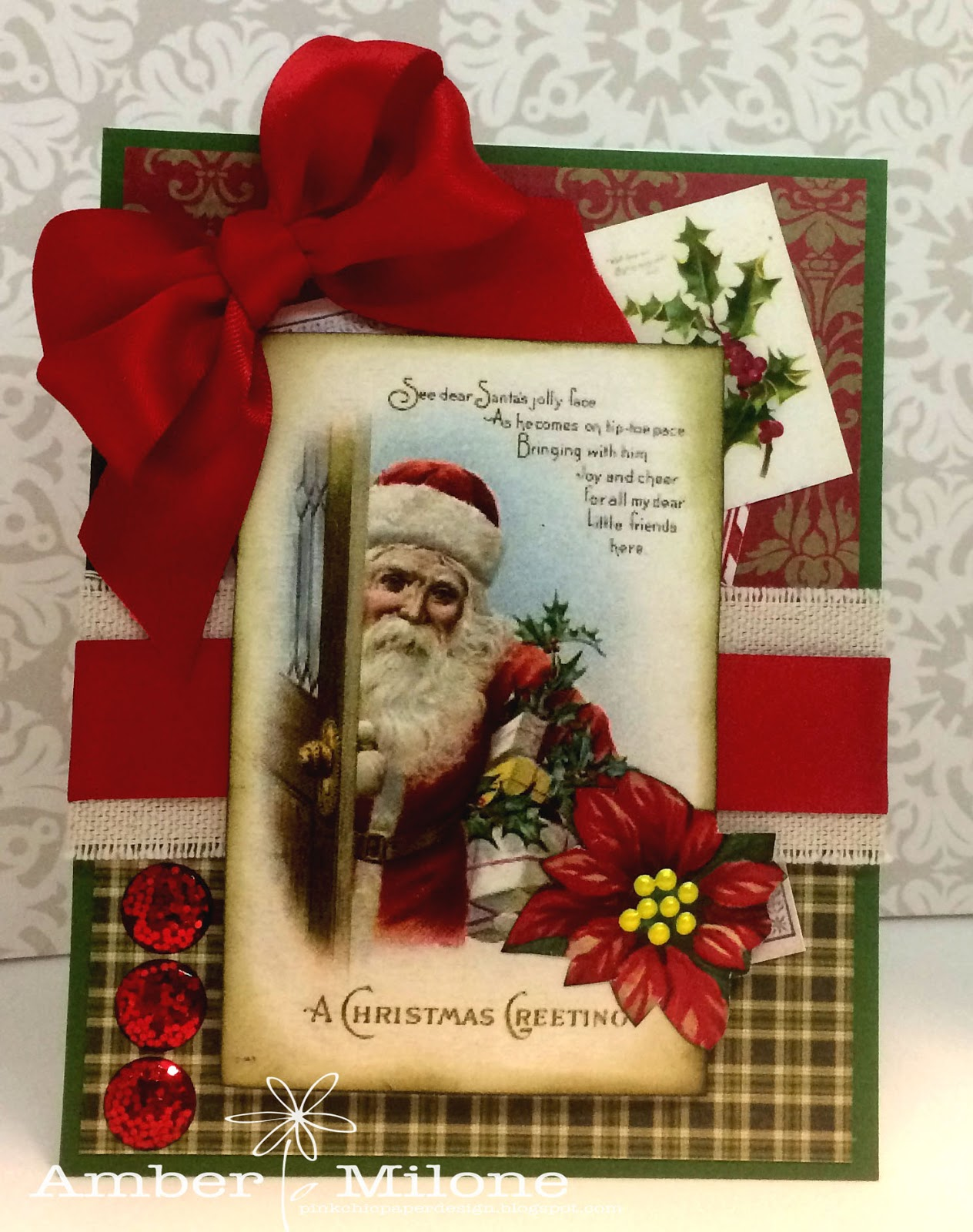 Really Reasonable Ribbon Blog: Old Fashioned Christmas Card