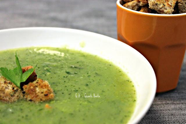 Q.B. - Quanto Basta - Vellutata di zucchine con crostini croccanti