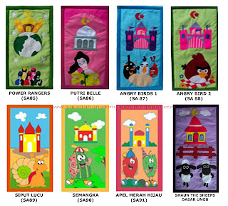 katalog sajadah anak kartun unik lucu harga grosir murah seri 7