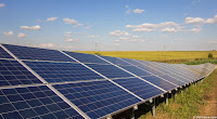 Line of Solar Panels
