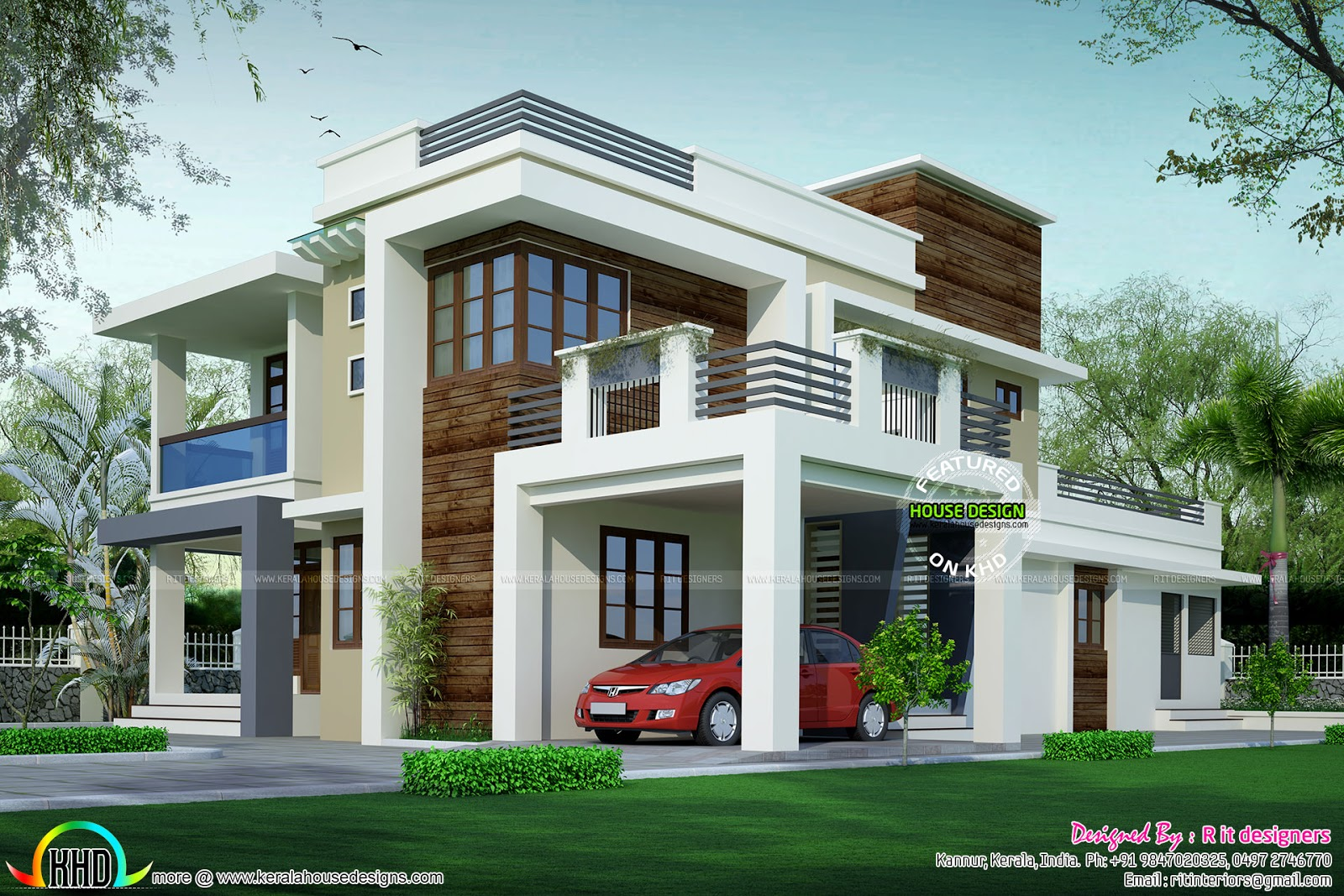 House design contemporary model kerala home design and for Indian house portico models