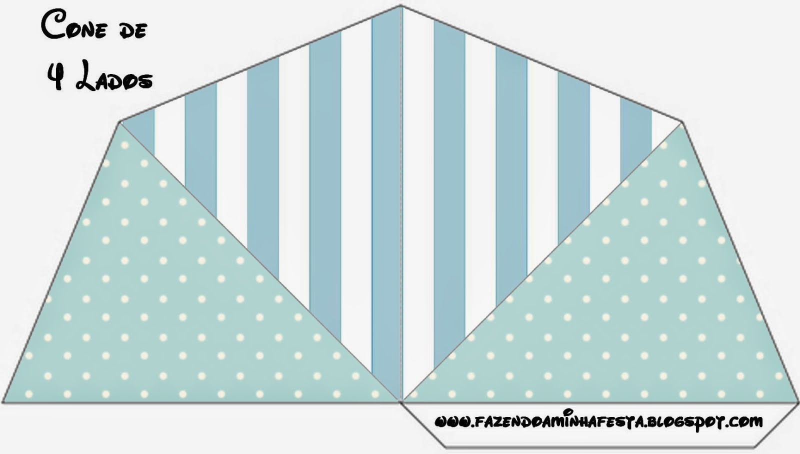 light blue and white stripes and polka dots free party printables