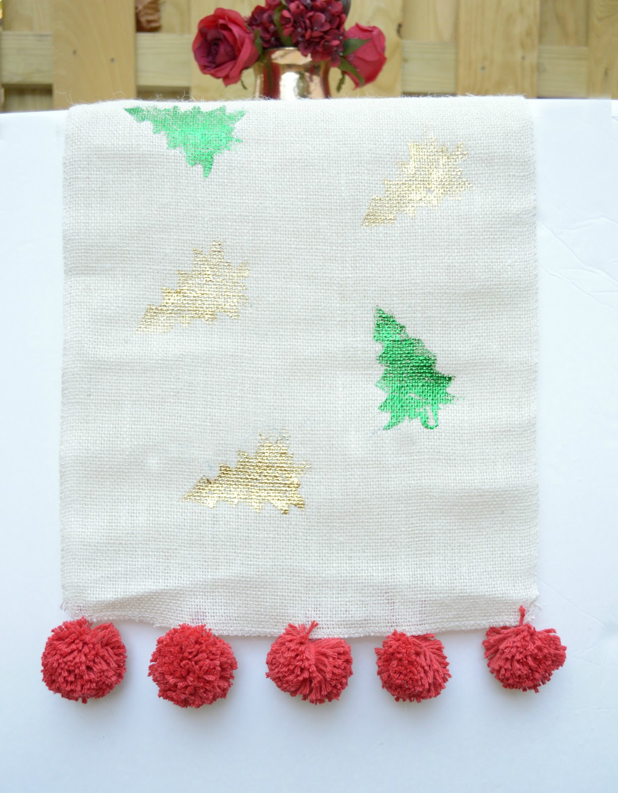 Festive Table Runner with DecoFoil
