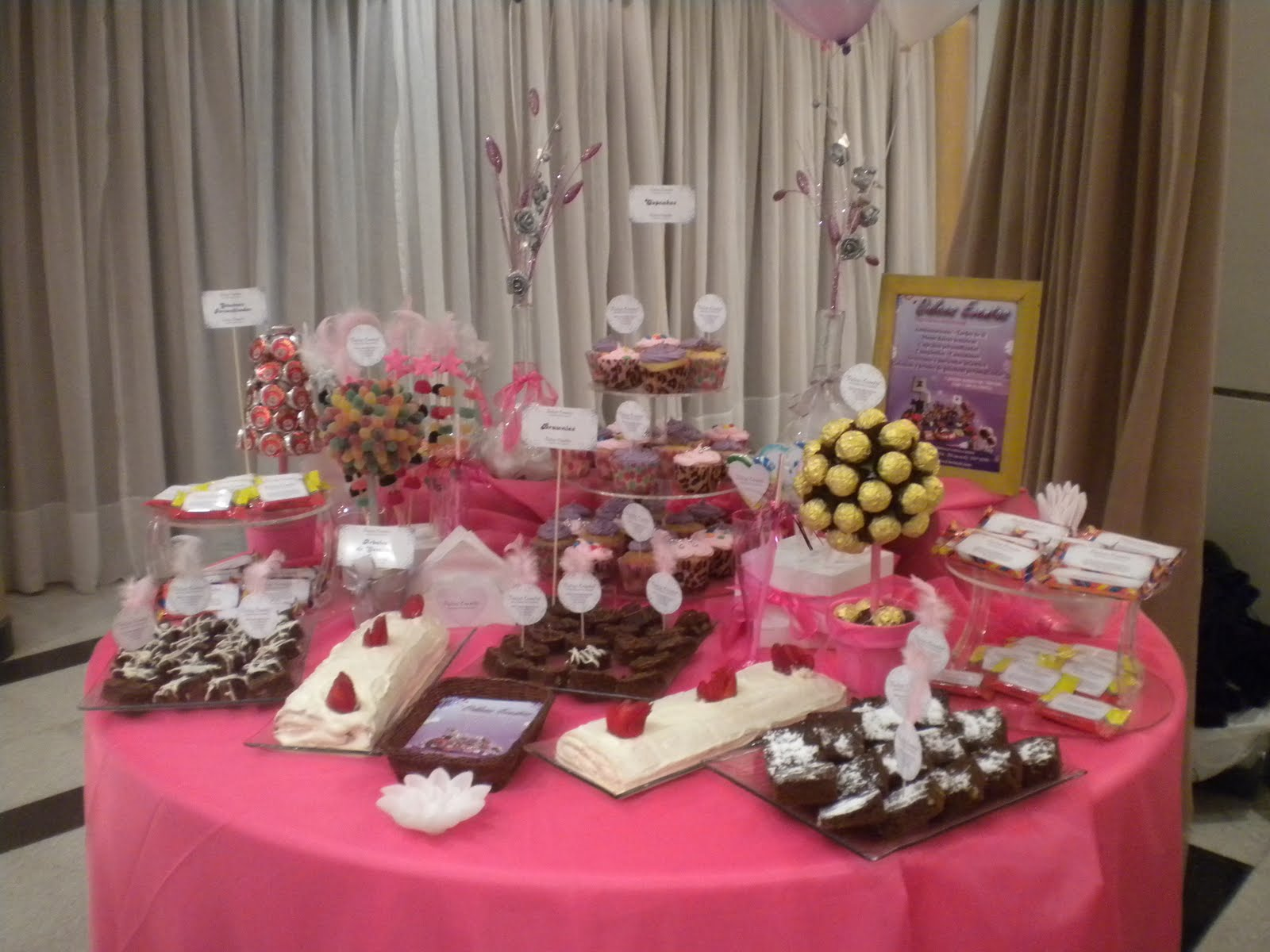 Dulces eventos mesa dulce cumplea os de 15 for Mesas dulces cumpleanos