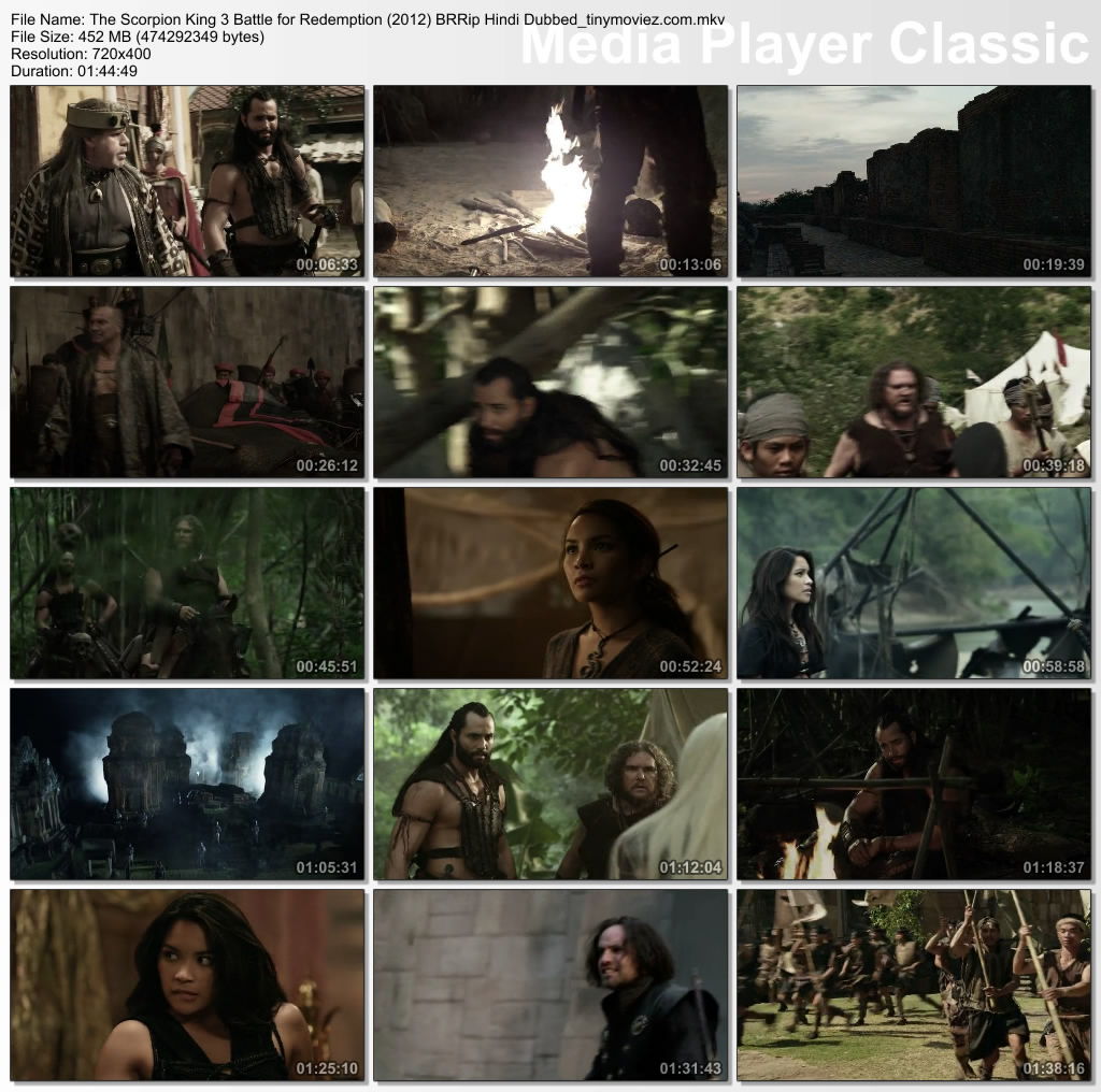 Scorpion King 3 Battle for Redemption 2012 BRRip Hindi Dubbed 450MB