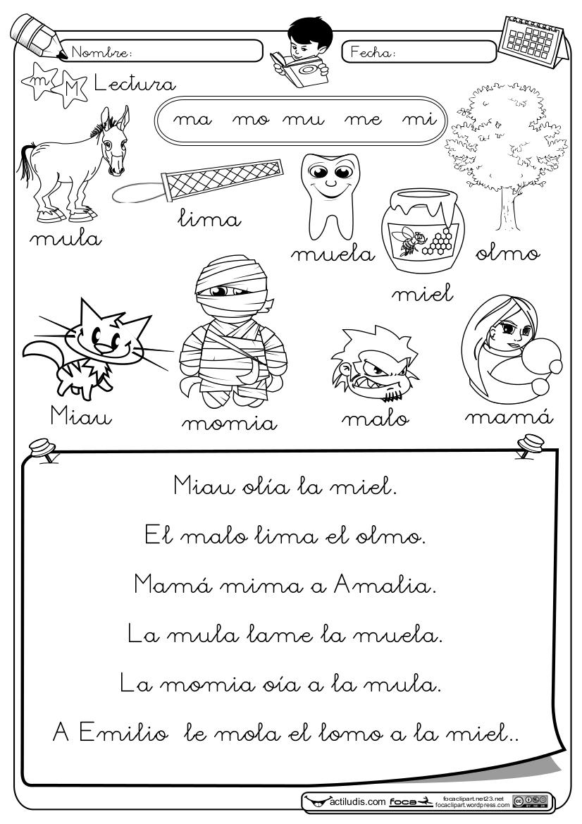 Mi mundo infantil fichas de lectoescritura for L practicas