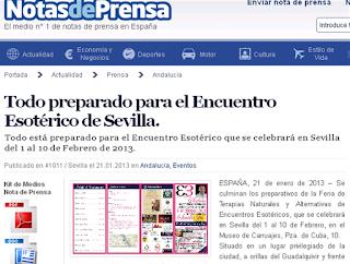 Todo preparado para el Encuentro Esotérico de Sevilla.