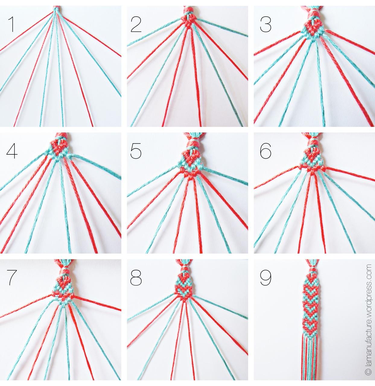 Браслеты своими руками схемы плетения из ниток