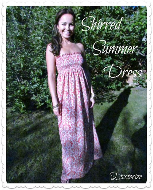 how to shirr, shirring, make a shirred dress, DIY Summer Dress, Easy sewing, Sew a summer dress