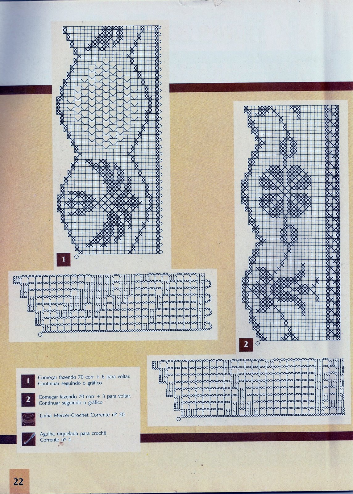 Филейное вязание, подушки с цветами 1