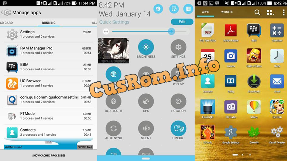 Custom Rom Zenfone 5 New For Andromax C2 KK