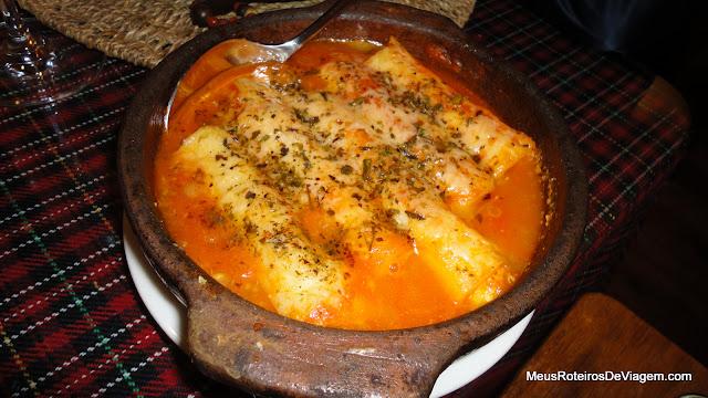 Caneloni no Restaurante A Taberna - Urubici/SC