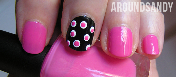 NOTD nailart dots over dots