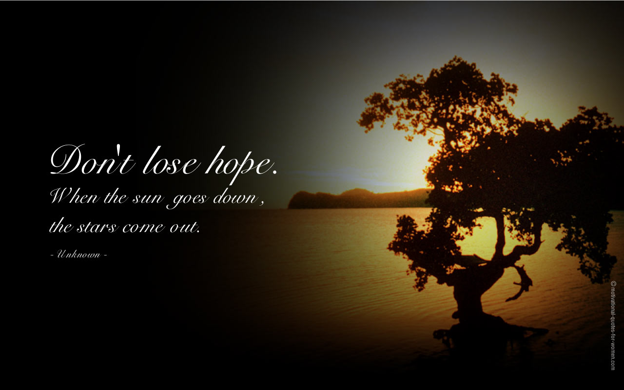 Inspirational Quotes on hope and feeling