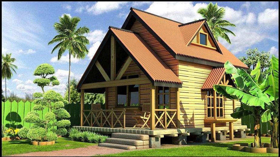 contoh rumah di pegunungan kreatif