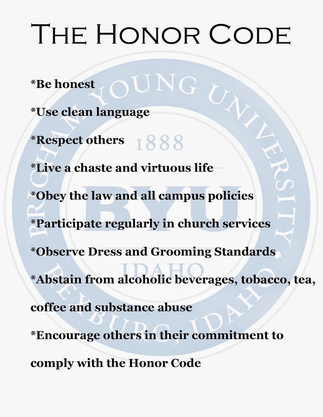 the honor code Honor code fundamental standard honor code the honor code is the university's statement on academic integrity written by students in 1921 it articulates university expectations of students and faculty in establishing and maintaining the highest standards in academic work.