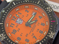 LUMINOX DIVER PROFESSIONAL 200M ORANGE DIAL - PVD BLACK CASE - RUBBER STRAP