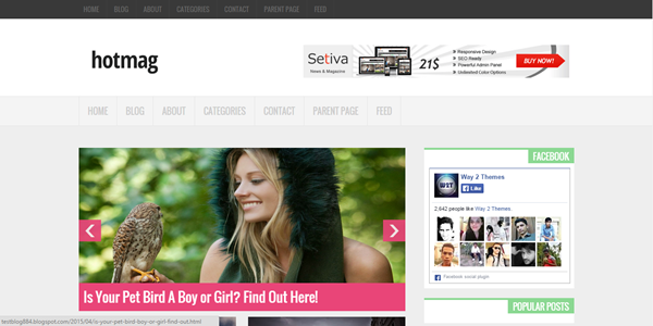 Hotmag blogger template responsive