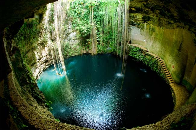 Ik-Kil Cenote, cenotes, Chichén Itzá, México, manantiales subterráneos
