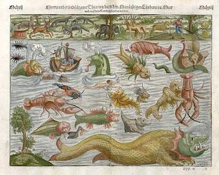 essas criaturas habitavam o mar (imaginário)