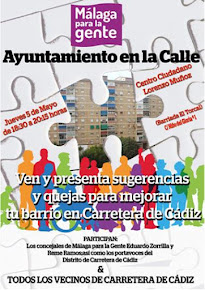"""Encuentro """"Ayuntamiento en la calle"""" con vecinos de la Carretera de Cádiz"""