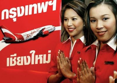 Airasia Air Hostess Two Air-hostesses Giving