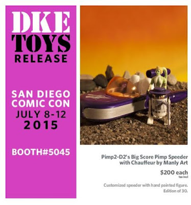 San Diego Comic-Con 2015 Exclusive Pimp2-D2's Big Score Pimp Speeder by Manly Art