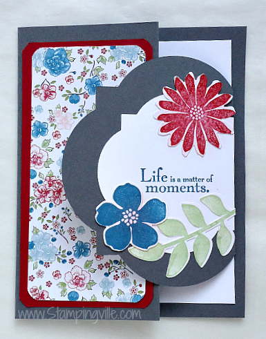 Stampin' Up! Secret Garden stamp set and framelits bundle card