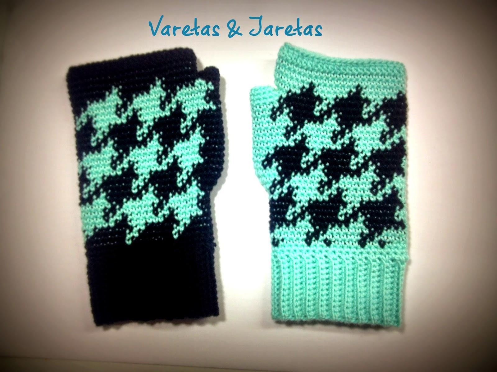 Varetas & Jaretas: Mitones tapestry en crochet con patrón